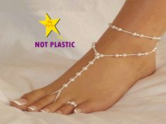 1 single pcs NOT PLASTIC original design Pulseras Tobilleras romantic purity ivory elastic beach wedding bridal barefoot sandals-in Anklets from Jewelry & Accessories on Aliexpress.com | Alibaba Group