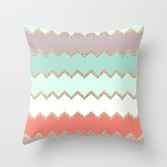 AVALON CORAL Throw Pillow by Monika Strigel | Society6