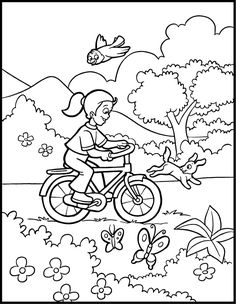Coloring Pages Winter Scenery Pictures - - Yahoo Image Search Results Coloring Pages Winter, Truck Coloring Pages, Coloring Sheets For Kids, Animal Coloring Pages, Coloring Book Pages, Spring Theme, Spring Colors, Winter Scenery Pictures, Spring Drawing