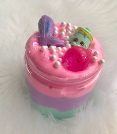 4 oz Birthday Cake Slime Crunchy Slime with Irresistible Cake Scent