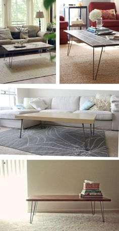 Hairpin Coffee Table Inspriation - A Little R and A