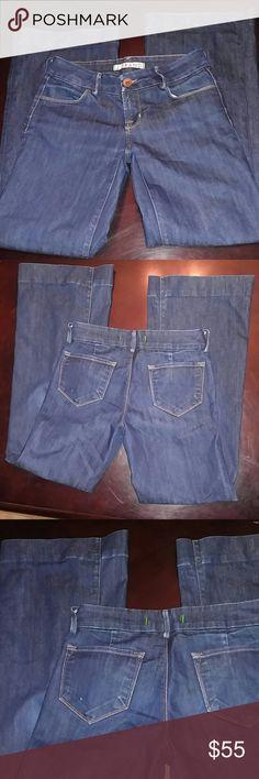 J brand wide leg dark indigo wash No defects. Inseam 31 Rise 8.5 Boot cuff 10.5 J Brand Jeans Flare & Wide Leg