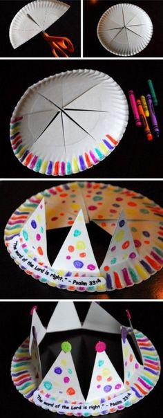 voor elke feestje kun je een kroon maken in verschillende thema's