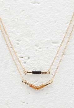 Wrapped Bar Charm Layered Necklace | Forever 21 - 1000172615