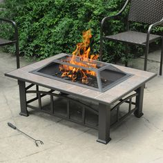 Fire Pit Tile Top Safety Screen Outdoor Garden Deck Lawn Patio Rust Resistant