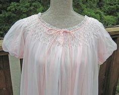Vintage frothy pink peignoir robe with seed by retroglamvintage, $35.99