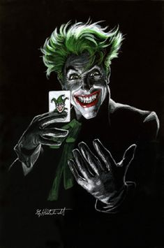 The Joker #3 - Black Board, comic art, Greg Hildebrandt