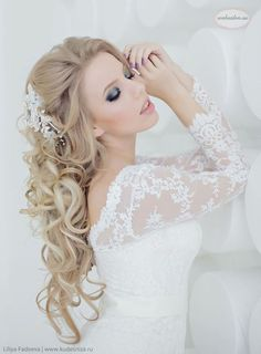Websalon Weddings long wedding hairstyle - Deer Pearl Flowers / http://www.deerpearlflowers.com/wedding-hairstyle-inspiration/websalon-weddings-long-wedding-hairstyle/