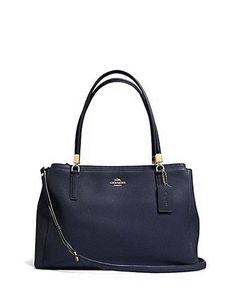 Coach Crossgrain Leather Christie Shoulder Bag