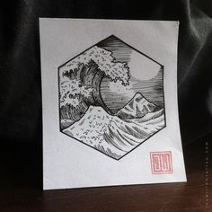 the great wave off kanagawa circle tattoo - Pesquisa Google