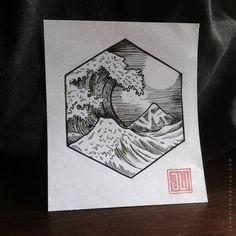 the great wave off kanagawa circle tattoo - Pesquisa Google
