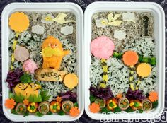 Dr. Seuss bento featuring The Lorax and lots of trees ~ amazing amount of detail! | by Anna the Red