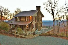 Antique Stonebridge log cabin with amazing views located in Todd area of Southern Ashe County close to Boone and West Jefferson. Log Cabin Kits, Log Cabin Homes, Log Cabins, Log Cabin Plans, Cabins For Sale, Cabins And Cottages, Ideas De Cabina, How To Build A Log Cabin, Cabin In The Woods