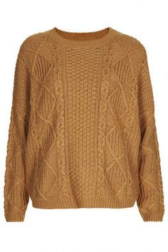 Knitted Angora Cable Jumper - Sweaters - Knitwear  - Clothing