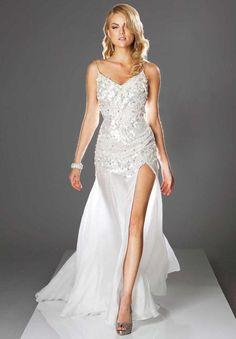 white & silver prom dresses - Google Search