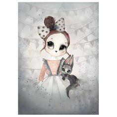 Poster Miss Emma, 50×70 cm, Mrs.Mighetto