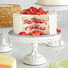 Strawberry Buttercream Cake--no recipe, but you can order it from Maxie B's in  Greensboro, NC--clink on the link for info. YUM.