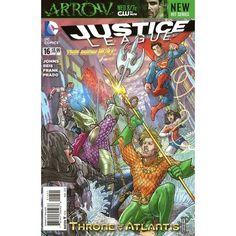 Justice League #16. DC Mar 2013. Langdon Foss Variant. Throne of Atlantis. NM