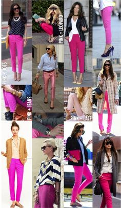 How to wear my pink jeans