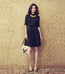 THE NAVY SHIRT DRESS- #toryburch #spring2013 This just gave me life!