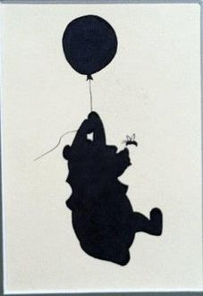pooh silhouette <3...see if there is room in bedroom for these, maybe hang one of two on door?