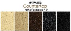 Rust-Oleum Countertop Transformation Kit - Choose from a variety of colors/finishes to redo your counters! #DIY