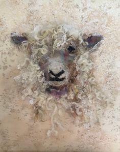 Sheep – Art In Textiles Sheep – Art En Textiles Sheep Paintings, Animal Paintings, Animal Drawings, Art Drawings, Kunst Inspo, Art Inspo, Textiles, Art Rupestre, Wal Art