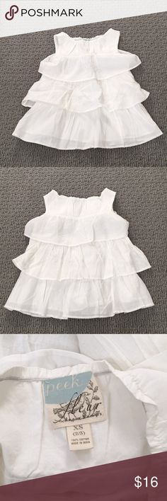 Peek Girls Dress Adorable and super soft 3 tier ruffle dress. Size 2/3, definitely runs on the larger end of that. This has never been worn and is in perfect condition. Comes from a pet-free, smoke-free home. Peek Dresses Casual