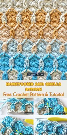 Honeycomb and Shells Stitch [Free Crochet Pattern and Tutorial] Follow us for ONLY FREE crocheting patterns for Amigurumi, Toys, Afghans and many more!