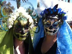 """Models wearing """"Itzam Ye"""" and """"Catherine"""" at the Dia de Los Muertos festival Hollywood Forever Cemetery 2012."""