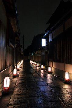 京都·石塀小路·夜间  Ishibei-Kouji, Kyoto