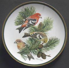 Franklin MintWoodland Birds Of The World: White-Winged Crossbill - Artist: Arthur Singer