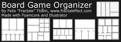 General tips and tricks on making foamcore organizers – Board Game Organizer Board Game Box, Board Game Table, Board Game Design, Board Games, Board Game Organization, Board Game Storage, Games Box, Diy Games, Quick Ice Breaker Games