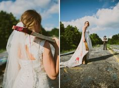 From fire to champagne to mud, here are our 20 favorite, and most original, ways to trash the dress.