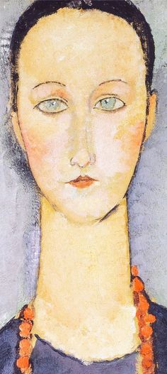 amadeo modigliani woman with a red necklace