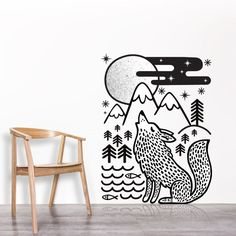Wolf / Wall decal /  wall sticker / animal vinyl sticker by DURIDO