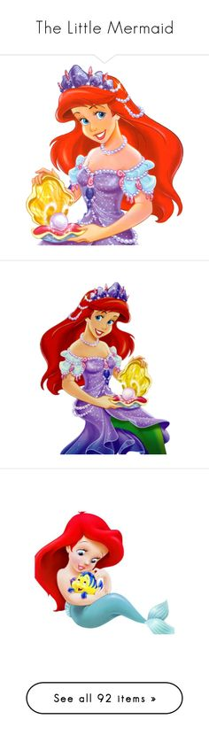 """""""The Little Mermaid"""" by asia-12 ❤ liked on Polyvore featuring disney, backgrounds, little mermaid, the little mermaid, ariel, cartoons, characters, filler, cartoon and disney characters"""