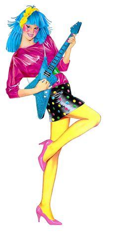 ♥ Jem and the Holograms, Rio, Jerrica, Kimber, Aja, Shana, Raya, Pizzaz, Stormer, Roxy, Clash, Dance, Jetta ♥Alternative Fashion Aja 1