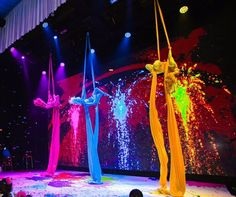 A blast of color and entertainment by talent from We hand painted the stage deck to enhance the theatrical performance. (Venue: At The Lot Planner: Florals: Photography: Rentals and Decor: with with Lighting: Dessert: Talent: Balloons: Event Themes, Event Decor, Corporate Event Design, Dance Themes, Arts And Crafts House, Circus Theme, Wedding Entertainment, Creative Activities, Halloween