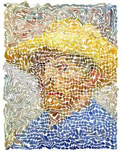 Vincent Willem van Gogh Digital Portrait door JeroenVanEerden, €100.00