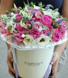 * Flower Boxes, Cut Flowers, Pastel Colors, Flower Designs, Floral Arrangements, Floral Wreath, Happy Birthday, Rose, Garden