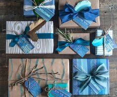 Blue Printable Gift Tags | Whimseybox