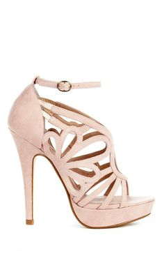 Blush cut out heels