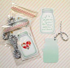 mason jar gift tags double sided mixed 5pak by magdalenarose