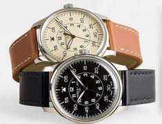 mougin  piquard for j. crew; swiss watch, beautiful, j.crew men's stores, $425
