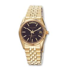 Mens Charles Hubert Gold-plated Black Dial Watch