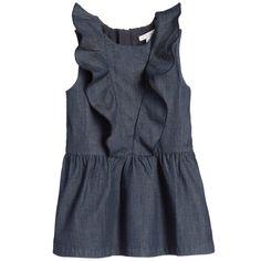 Chloé Baby Girls Dark Blue Chambray Dress at Childrensalon.com
