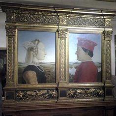 #uffizi #tourguide #upanddownthechianti #masterpiece #history #historyofart #theprince #macchiavelli #power  Federico da Montefeltro and Battista Sforza painted by Piero della Francesca.