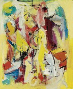 Franz Kline - Yellow Abstraction Oil on canvas Abstract Expressionism, Abstract Art, Abstract Paintings, Modern Art, Contemporary Art, Lee Krasner, Robert Motherwell, Franz Kline, Willem De Kooning