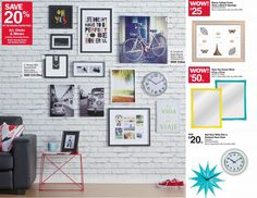 Art Advertising - Low to Middle Market Department Store Retailer Mark Price, Department Store, Gallery Wall, Advertising, Middle, Clock, Black And White, Frame, Home Decor
